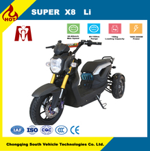 Super X8,electric motorbike 2*800w e motorcycle China factory,Two-wheel hub motor drive electric three-wheel scooter