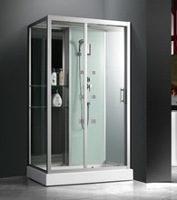 rectangular shape glass steam shower room with 5mm clear glass