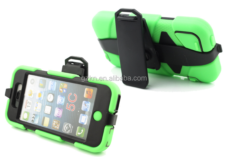 Protective case cover for iPhone 5C with belt clip
