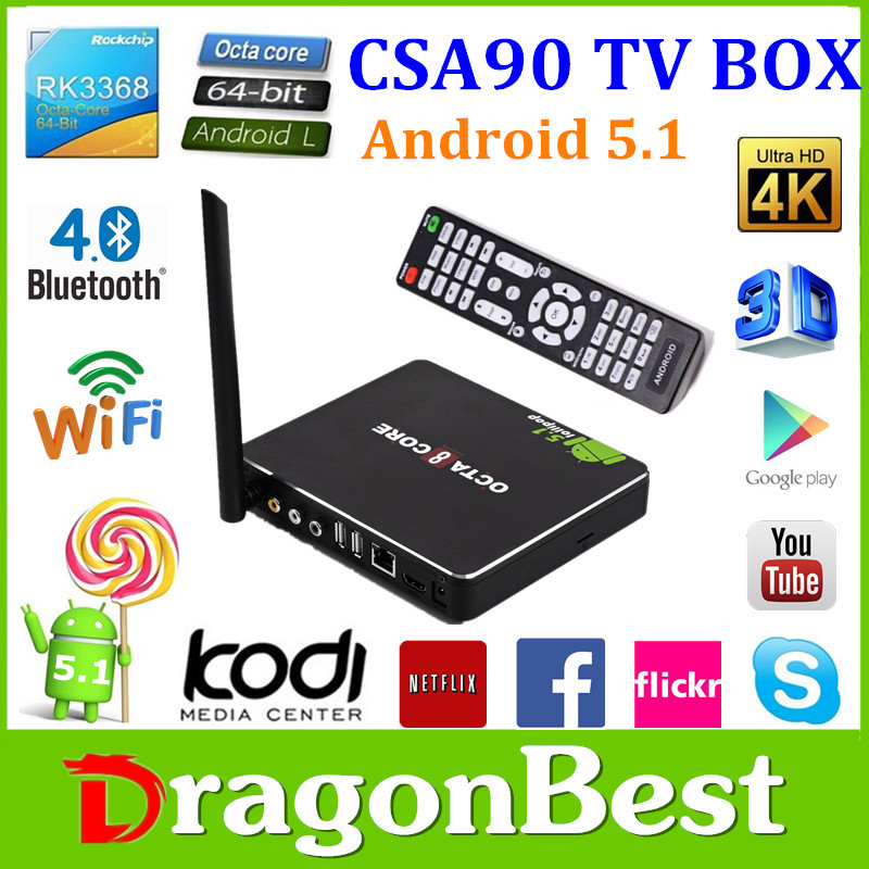2015 New Google Android 5.1 Smart Tv Box 4K Android Stick 8 Core With Rk3368 Chipset Iptv Set Top Box 1080P Hd Japan Av Video