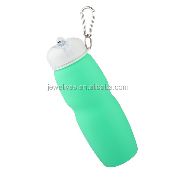 New Silicone Foldable Water Bottle BPA Free Environmental Folding Portable Water Bottle