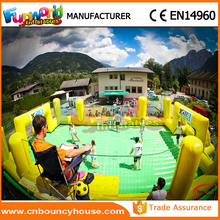 New water soccer inflatable soap soccer field inflatable football field