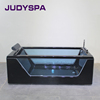 Black color acrylic massage bathtub indoor spa whirlpool bathtub YG7101