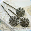 HOT!! wholesale hair brush metal pins bun pins , metal hair pins WOMEN favourite hair pins and clips 2013 ,fancy hair pins