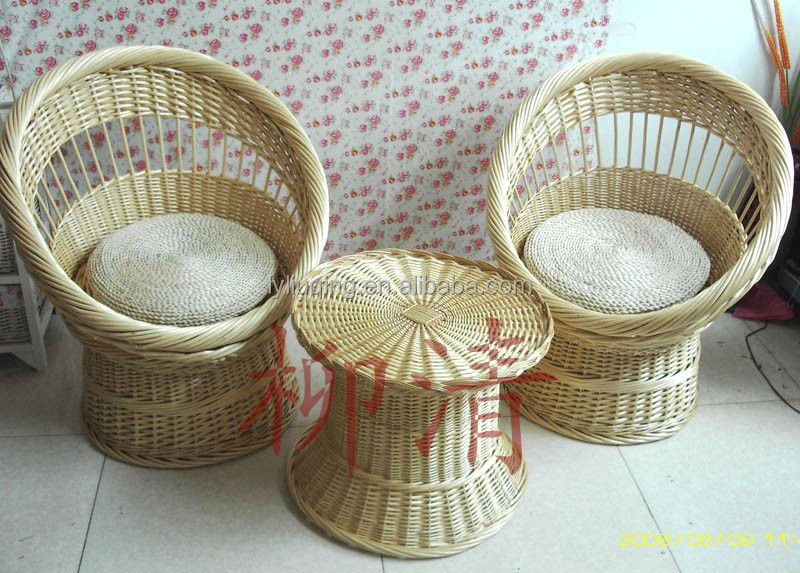 Natural material wicker safa