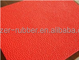 red 3mm orange peel anti-slip rubber sheets/mats online shop China