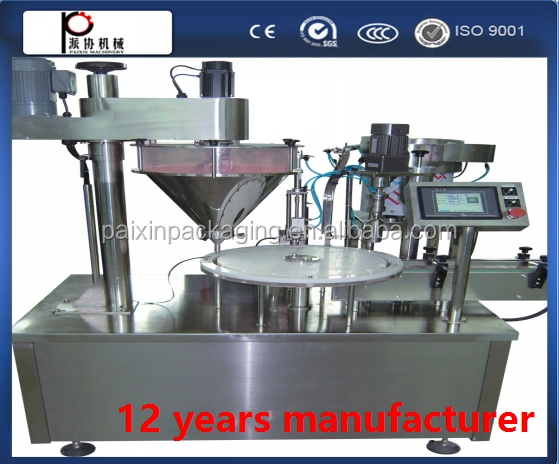 Durable Cast iron special permeability powder filling capping machine ,shanghai factory price