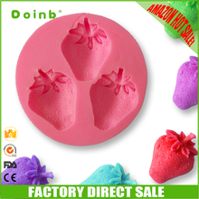 2017 Amazon hot sale China Zhejiang factory direct sale high quality strawberry shape silicone cake decorating tools
