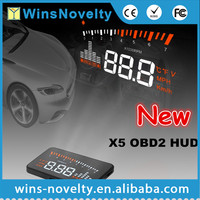 3.5 Inch High Definition Multi Color Car HUD X5 HUD Head Up Display Vehicle Mounted Alarm Security System