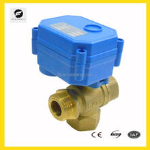 TF 3 way mini electric water valve CWX-15Q for air condition system