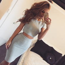 Lady Maxi Fashion Dresses Women Summer Casual Cotton Two piece Dress
