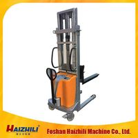 Manual Stacker Forklift Semi Electric Stacker electric straddle stacker