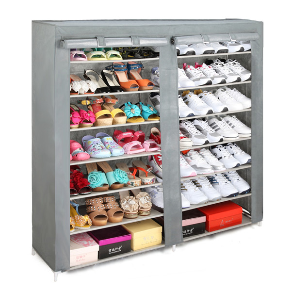 2 doors standard Portable Shoes Organiser solid wood shoe cabinet