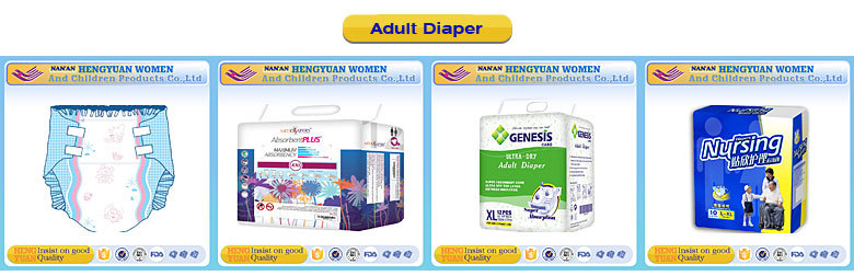 Colorful PE film Adult type diaper nappy adult diaper with PP tape