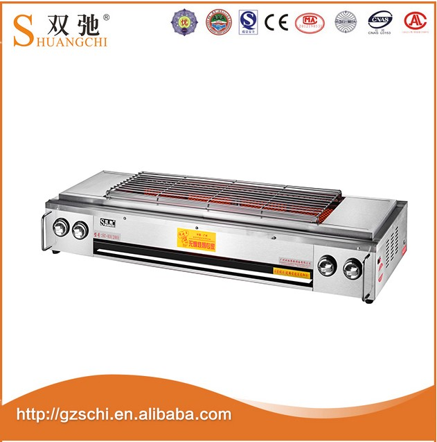 SC-03 best selling products Commercial Table Top Electric Barbecue Stainless Steel Smokeless BBQ Grill with low price