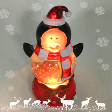 Acrylic Led Color Changing Christmas Snow Globe Figurine Decoration