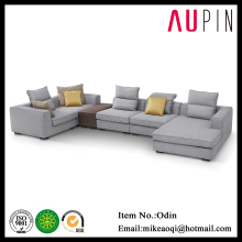Elegant living room european furniture u shaped cheap modern sectional sofa