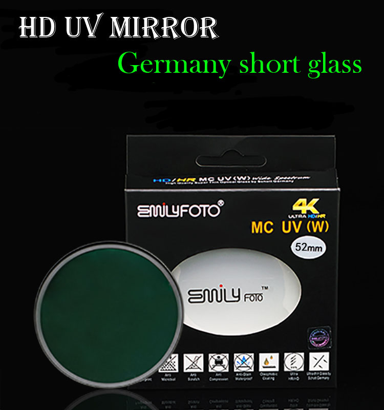 Digital camera lens filter MC UV filter for Canon lens