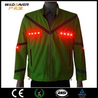 LED light jacket motorcycle protections