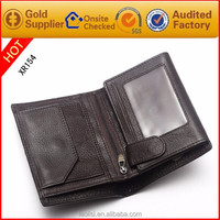 Factory price leather travel wallet with coin pocket