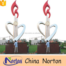 modern large stainless steel sculpture for outdoor decoration NTS-451S