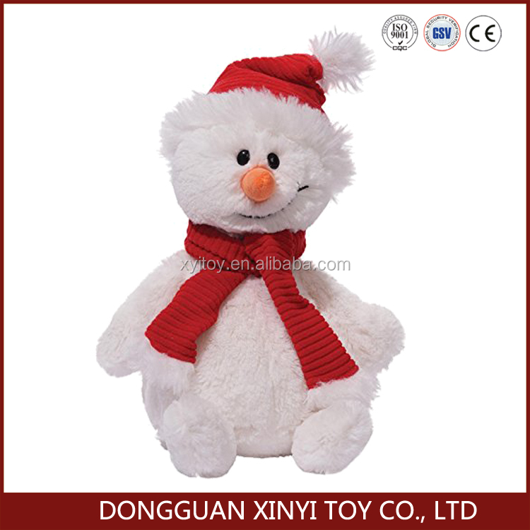 Hot sale snowman head plush toys Chistmas snowman
