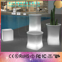 plastic pots and planters rectangular PE rotating mould 16 colors led light flower pot