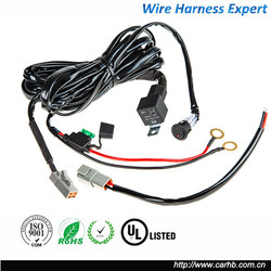 universal 12v off road on off switch led light bar wiring harness for car