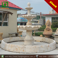 3 Tier Outdoor Natural Marble Stone Water Fountain For Sale