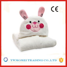 baby flannel fleece softextile blanket cute rabbit blanket cheap wholesale blanket in china factory