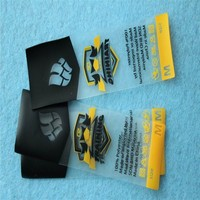 custom soft and transparent TPU labels