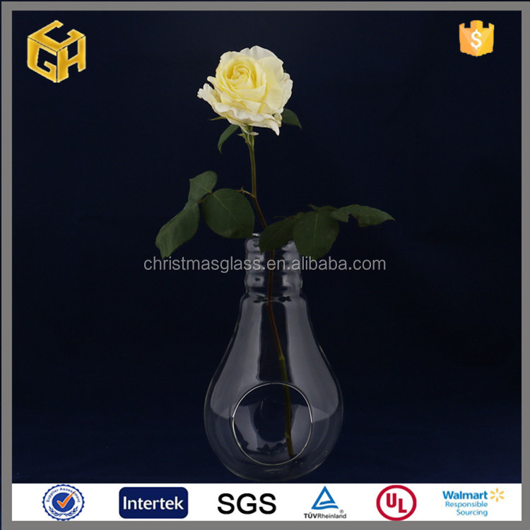 Clear glass flower vase home decoration