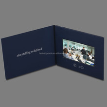 2017 promotional UV printing brochure 4.3 inch TFT lcd video greeting card, lcd video cards, video brochure card ad