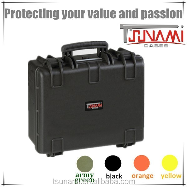 Factory plastic waterproof tool box carrying case hard organizer box with lid