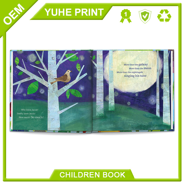 Cheapest price high quality popular design mass art posted paperboard uv soft cover printing baby book
