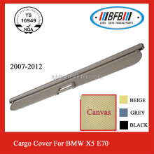 REAR CARGO COVER FOR BMW X5 E70 CANVAS ALUMINUM 2007-2012