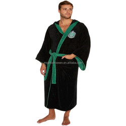 High quality Harry Potter Slytherin Adult Hooded Bath Robe Size BP1829