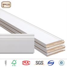 mdf baseboard white gesso painting home decoration items wood moulding