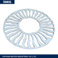 Round cast iron water storm drain covers gully grating