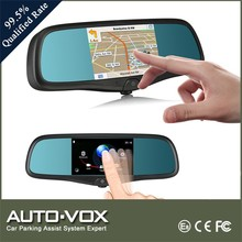 smart car mirror gps navigation auto rear mirror with DVR