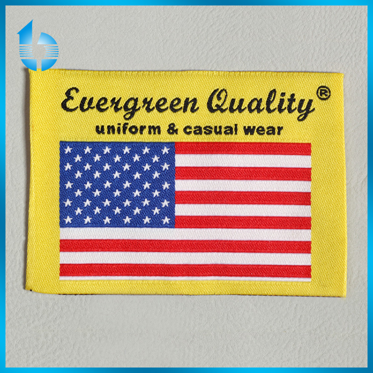 American national flag woven label woven patch for uniform garments