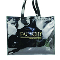 Fashion custom printed PVC coated cotton shopping bag