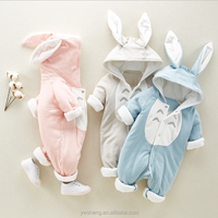Wholesale fashion winter plain warm infants and toddlers snowsuit baby down rompers baby winter rompers