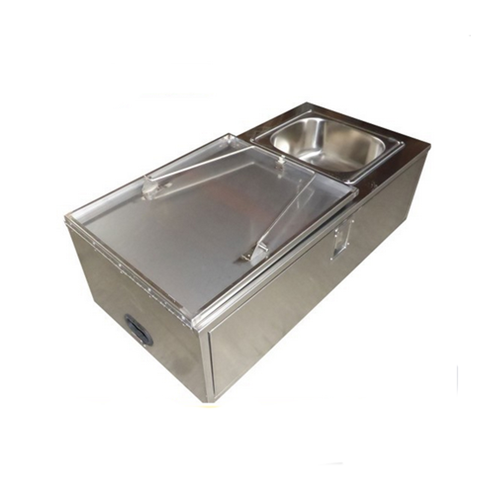 STAINLESS STEEL CAMPER TRAILER SLIDE OUT KITCHEN