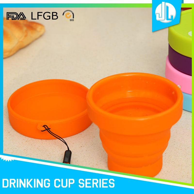 FDA grade silicone cheap foldable microwavable travel mugs