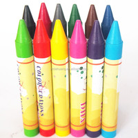 yes customized high quality bright color drawing crayon