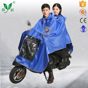 Prompt Delivery Safety Item Custom Printed Rain Poncho