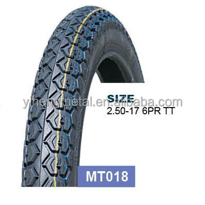 China motorcycle tyre Manufacturer 2.50-17 6PR MT018