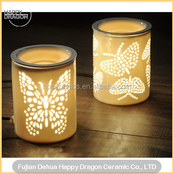 Electric Ceramic Tart Wax Warmer with butterfly cutout