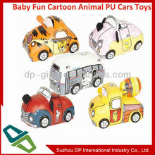 Baby Fun 5 Cartoon Animal PU Stuffed Toys Cars